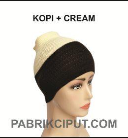 Bandana Rajut Kopi dan Cream