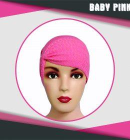 Ciput Rajut Anti Pusing Kerut - Warna Baby Pink