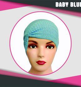 Ciput Rajut Anti Pusing Kerut - Warna Baby Blue