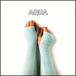 Handsock Rajut Warna Aqua