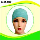 Ciput Rajut Anti Pusing Polos - Warna Baby Blue