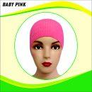 Ciput Rajut Anti Pusing Polos - Warna Baby Pink