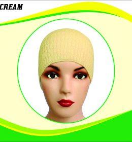 Ciput Rajut Anti Pusing Polos - Warna Cream
