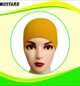 Ciput Rajut Anti Pusing Polos - Warna Mustard
