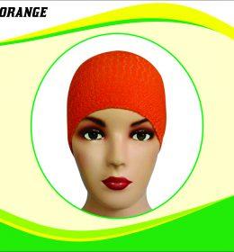 Ciput Rajut Anti Pusing Polos - Warna Orange
