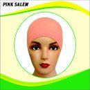 Ciput Rajut Anti Pusing Polos - Warna Pink Salem