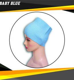 Ciput Rajut Bandana Anysa Premium- Warna Baby Blue
