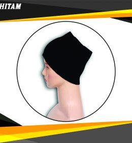 Ciput Rajut Bandana Anysa Premium- Warna Hitam
