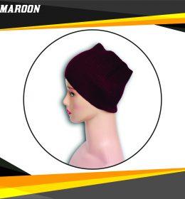 Ciput Rajut Bandana Anysa Premium- Warna Maroon