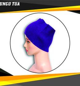 Ciput Rajut Bandana Anysa Premium- Warna Ungu Tua