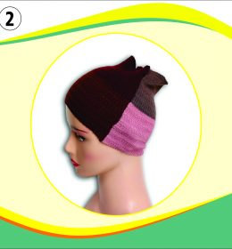 Ciput Rajut Bandana Zigzag 4 Warna - 2