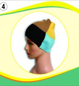 Ciput Rajut Bandana Zigzag 4 Warna - 4