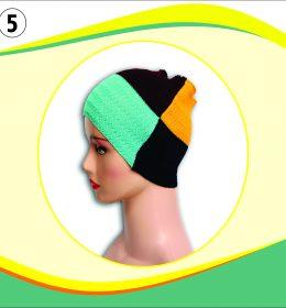 Ciput Rajut Bandana Zigzag 4 Warna - 5