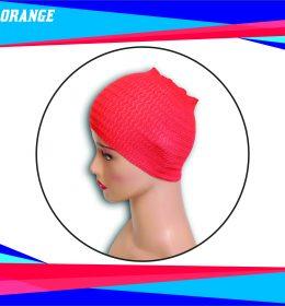 Ciput Rajut Bandana Zigzag 1 Warna - Warna Orange